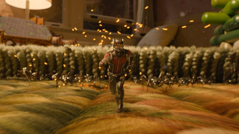 The ants help Ant-Man defeat Yellowjacket.