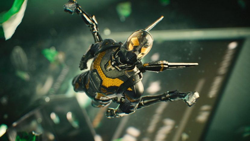 Yellowjacket attacks in a sequence late in the film inside a briefcase.