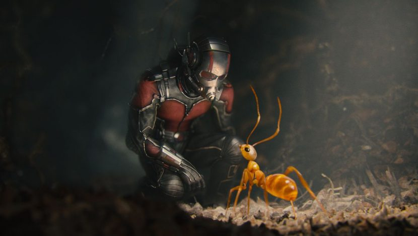 Ant-Man meets a crazy ant.