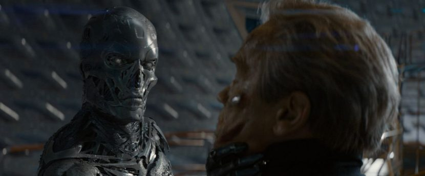 The T-3000 battles The Guardian.