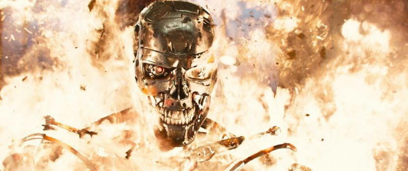 A later scene in which the T-800 has its skin peeled off.