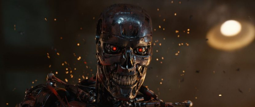 The T-800 roars back to life.