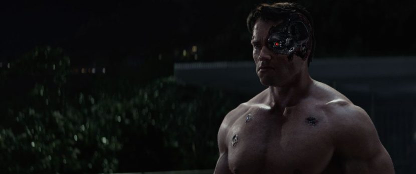 Damage sustained by the T-800.