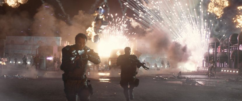 MPC handled the future war sequence.