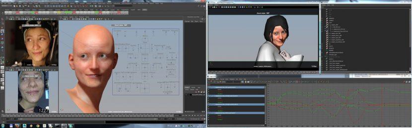 Facial animation.