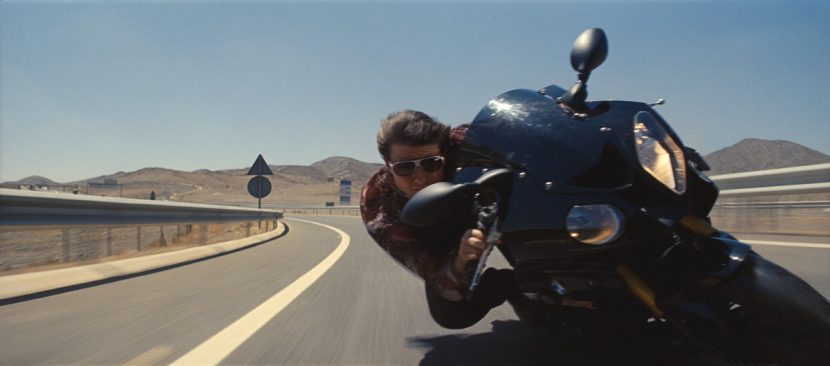 Hunt speeds along a Moroccon highway.