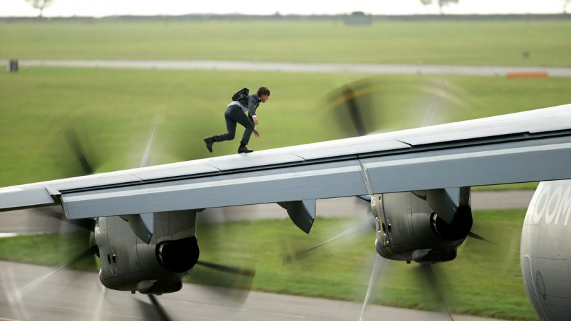 Ethan Hunt (Tom Cruise) boards an Airbus A400M.