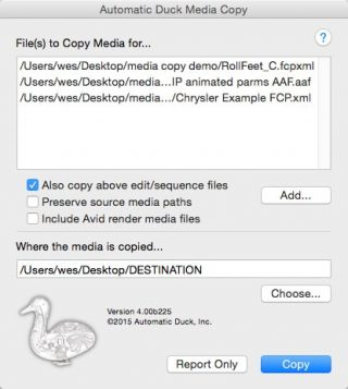 Automatic Duck Media Copy