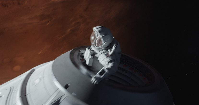 Watney awaits rescue in the capsule.