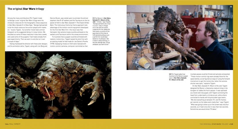 A spread on Phil Tippett's work for the original Star Wars trilogy.