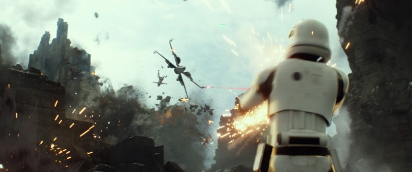 A stunning lengthy scene shows Poe's flying skills.