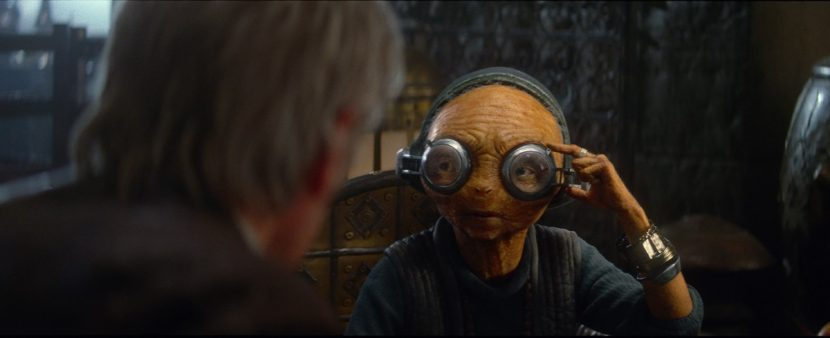Maz chats to Han Solo.