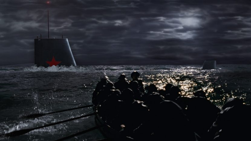 One of the film's signature effects is for the submarine sequence which blurred the lines between real and 1950s-style visual effects.