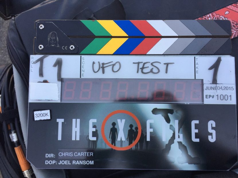 VFX supervisor William Powloski's 'UFO Test' photo taken on day one of the new X-Files photography.