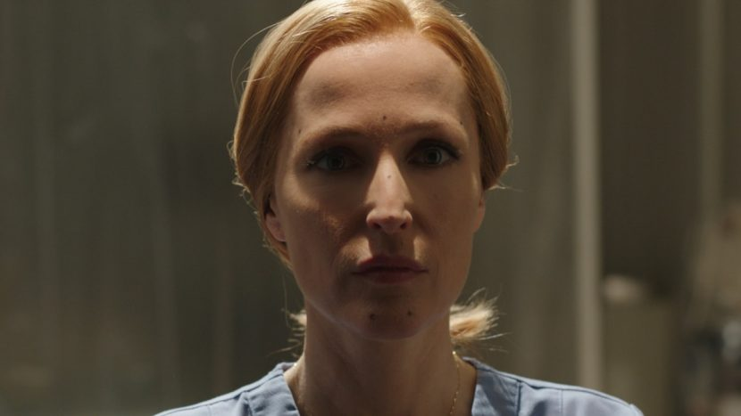 At one point in 'My Struggle II,' Scully is seen morphing into a gray alien. This is the before shot.