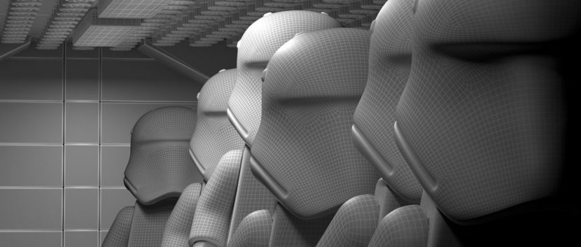 Wireframe Stormtroopers.