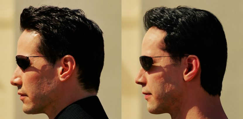 Side by Side Neo Real actor and CG version.