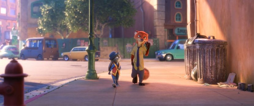 Hopps and Wilde stroll through Zootropia.