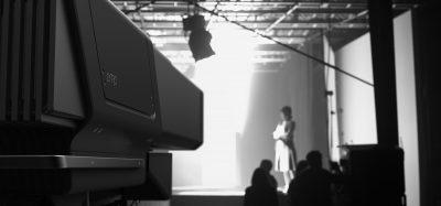The Lytro Cinema camera on set.