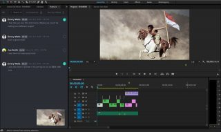 What the task list looks like in Frame.io's new Premiere Pro CC panel.
