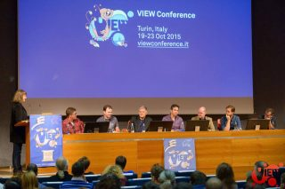 A panel at VIEW Conference 2015.