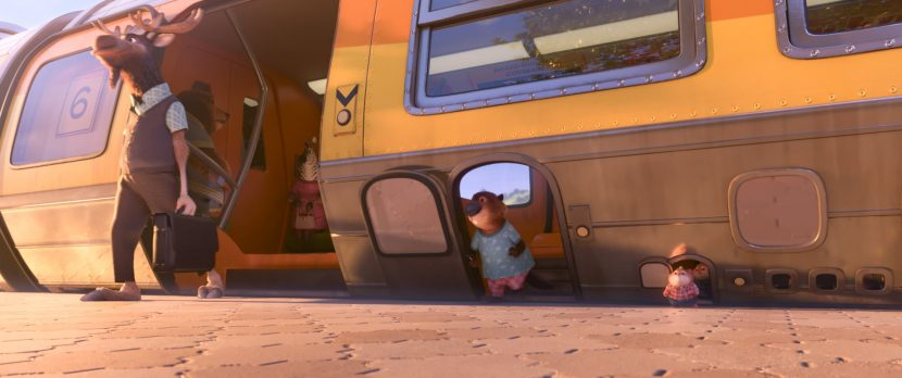 The train in Zootopia that accommodate mammals of all shapes and sizes, the modern mammal metropolis was built by animals for animals. ©2016 Disney. All Rights Reserved.