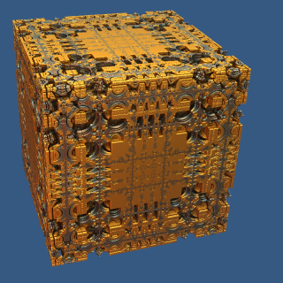 Mandelbox Power 2 by Kaini in july 2010.