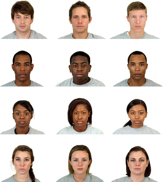 Sample from the Chicago Face Database