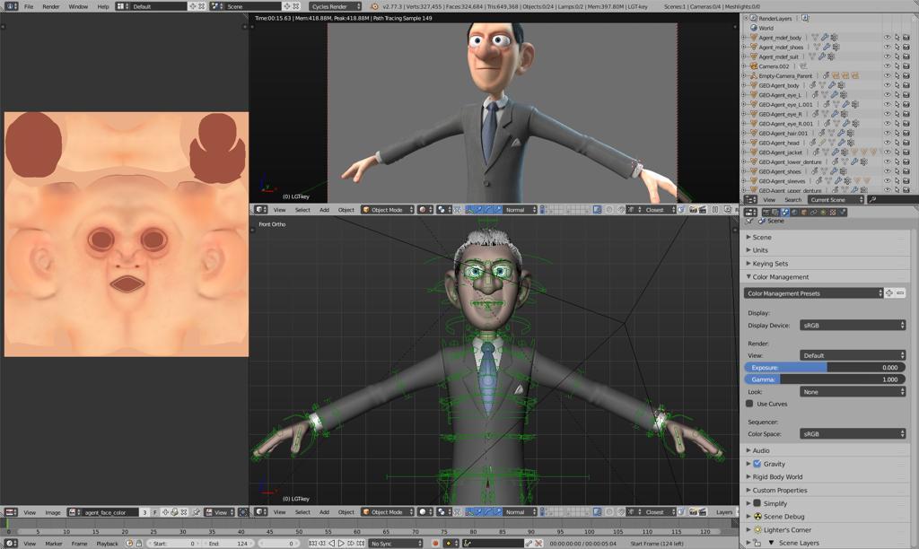 Blender Character Modeling Template : Agent operation barbershop fxguide